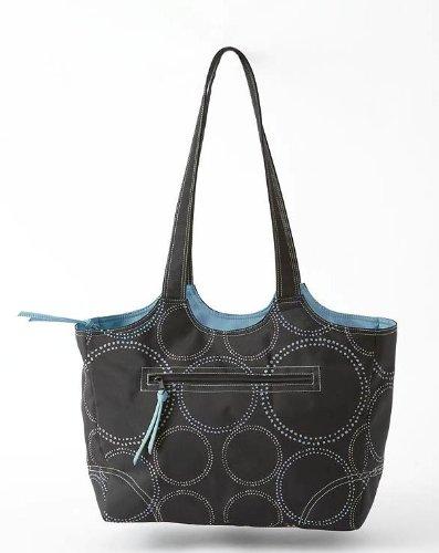 Summer Infant High Tote Diaper Bag, Black/Blue front-788210