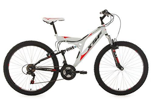 KS-Cycling-Fahrrad-Mountainbike-Fully-XSF-wei-rot-26-512M