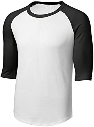 Buy Mens or Youth 3 4 Sleeve 100% Cotton Baseball Tee Shirts-Youth XS to Adult 6X by Joe's USA
