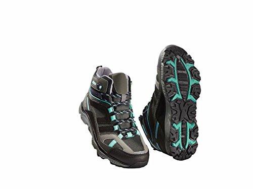 Damen Trekkingschuhe Wanderschuhe Trekking Schuhe Gr. 38 Grau/Mint Atmungsaktiv Wasserdicht