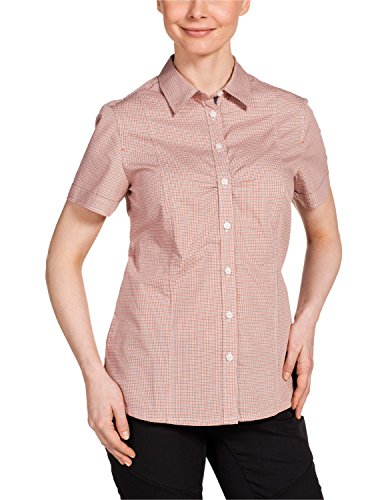 Jack Wolfskin Damen Bluse Palmerston OC Shirt, Koi Orange Checks, XXL, 1401611-7578006