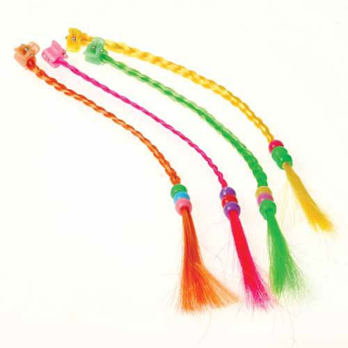 Beaded Neon Hair Pieces