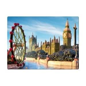 """Carl Warner """"London Skyline"""" Food Landscapes Glass Work Surface Protector/Saver"""
