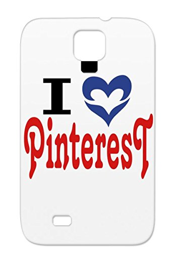 Red I Love Pinterest Online Pinterest Pinboard Geek Pin TPU For Sumsang Galaxy S4 Case