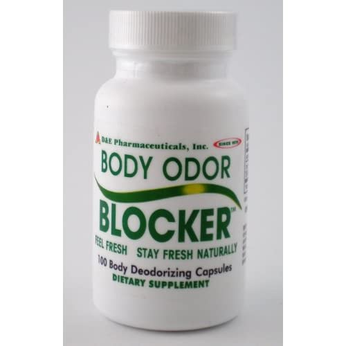.com : Body Odor Blocker By D&E 100 Deodorizing Capsules Bo : Body