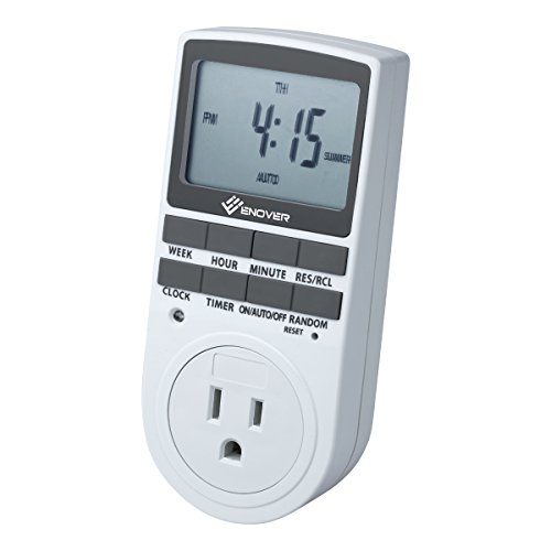 Enover 7-day Programmable Plug-in Digital Timer Switch with 3-prong Outlet for Lights and Appliances, 15A/1800W (Timer Outlet Switch compare prices)