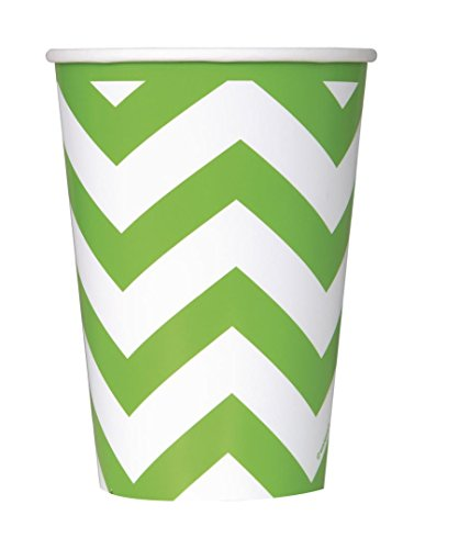 12oz-lime-green-chevron-paper-cups-pack-of-6