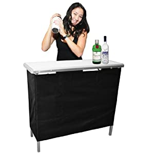 GoPong Portable High Top Party Bar, Includes 3 Front Skirts and Carrying Case by GoPong