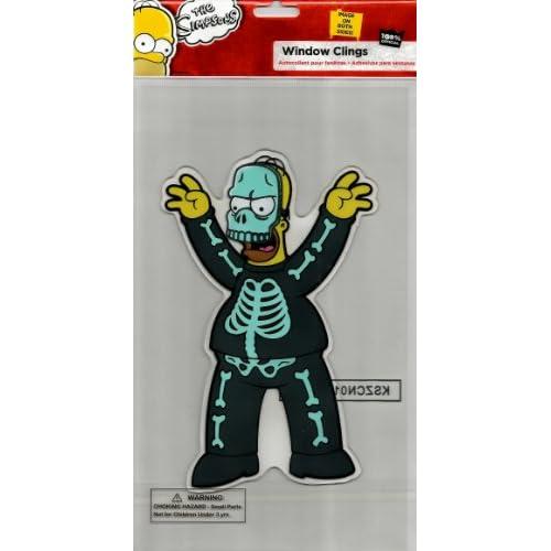Amazon.com : The Simpsons Spooky Jelz Homer Simpson Skeleton Halloween