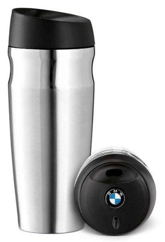 BMW Genuine Brushed Stainless Steel Thermo Mug Stainless Steel (Color: Stainless Steel)