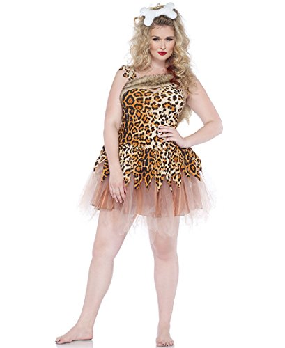 Leg Avenue Womens Cave Girl Cutie Plus Size Adult Costume