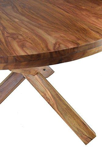 Esstisch rund 120 massivholz sheesham rhondo k chentisch for Esstisch rund 120