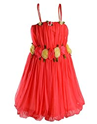 Motley Girls' Dress (2-3-505_Red_2-3 years)