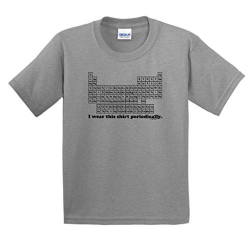 I Wear This Shirt Periodically Youth T-Shirt Medium Sport Grey