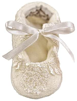 Memory Lace Christening Baptism Shoes for Girls, Made in USA-3