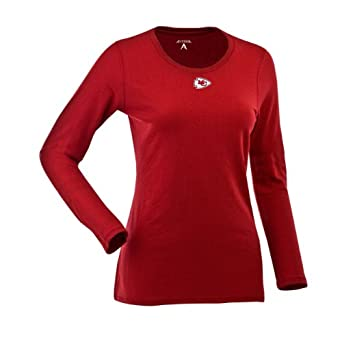 NFL Ladies Kansas City Chiefs Relax Long Sleeve Tee by Antigua