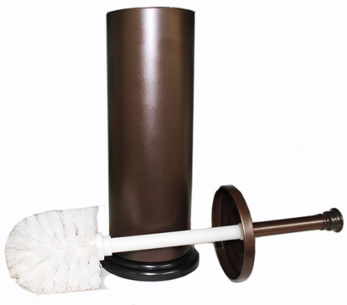 blue donuts bronze toilet brush with holder and cup insert to catch water and prevent water. Black Bedroom Furniture Sets. Home Design Ideas