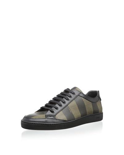 Fendi Men's Striped Lace-Up Sneaker