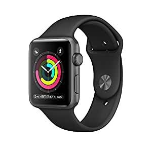Apple Watch Series 2 42mm Smart Watch (Space Grey Case, Black Sport Band)