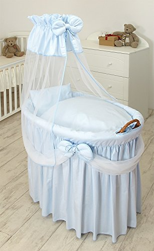 MamaLoes Baby Stubenwagen inkl. Zubehör Blau Voile günstig kaufen
