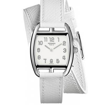 Hermes Cape Cod Tonneau PM Small Ladies Quartz Watch with Double Wrap Strap - 034315WW00
