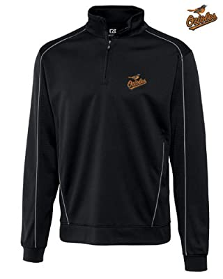 Baltimore Orioles Mens DryTec Edge Half Zip Jacket Black