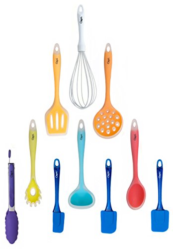 Ozeri 11 piece all in one silicone utensil set multicolor for Kitchen set node attributes