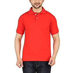 Garudaa Garments Men's Red T Shirt
