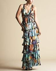 Cascade Print Maxi Dress