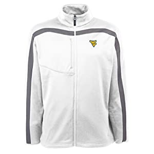 West Virginia Mountaineers Jacket - NCAA Antigua Mens Viper Performance Jacket White by Antigua