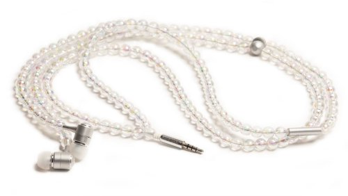 Handcandy Hf001Bl The Courtney Ladybuds Stereo Headphone Necklace, Iridescent/Ab Clear