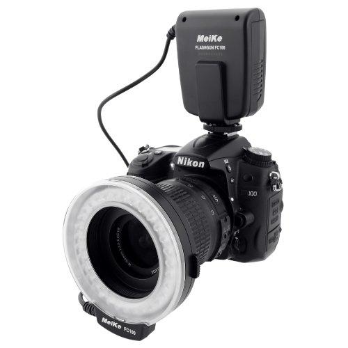 Meike Fc-100 Macro Ring Flash Light Led For Canon Eos 1100D 600D 60D 7D 1D Iv