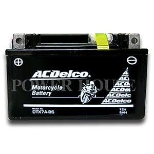 【クリックで詳細表示】ACDelco [ エーシーデルコ ] シールド型 バイク用バッテリー [ 品番 ] DTX7A-BS
