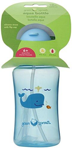 Green Sprouts Aqua Bottle, Aqua, 10 Ounce