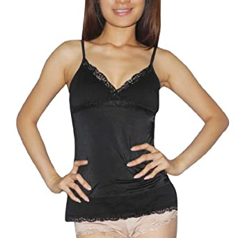 Ladies XOXO Gorgeous & Comfortable Pajama Camisole Tank Top Sleepwear / Loungewear - Black (Size: L)