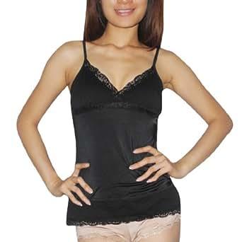 Ladies XOXO Gorgeous & Comfortable Pajama Camisole Tank Top Sleepwear / Loungewear - Black (Size: L)