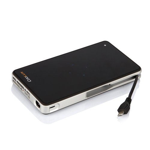 Coolux Q5-Bz Led Pico Mini Hdmi Pocket Projector Dlp 854*480 Support 1080P Build-In Mhl Cable (Black)