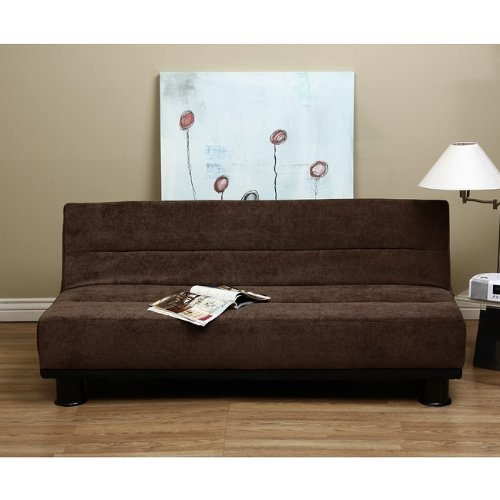 Magnificent Brown Cocoa Velvet Futon Sleeper Sofa Bed Great Chance Short Links Chair Design For Home Short Linksinfo