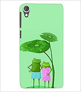 PrintDhaba Funny Image D-4426 Back Case Cover for HTC DESIRE 820 (Multi-Coloured)