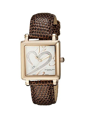 Stuhrling Original Classique 'Courtly' Diamond Swiss 253.1145K2- Orologio da donna