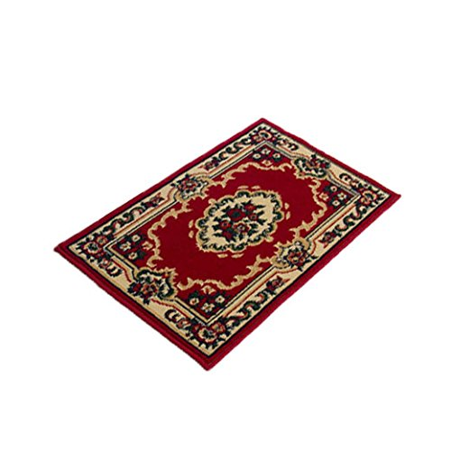Dgi Mart 40X60Cm Carpet Chair Mats Rugs For Home Office Study Bedroom Sitting Room Kitchen Dining Room - 148 Red front-627625