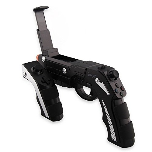 iPega PG9057 Bluetooth Game Gun Controller [Rugged] for Android & IOS Fully Edition Operation System or Tablet PC [Black] (Pc Light Gun compare prices)