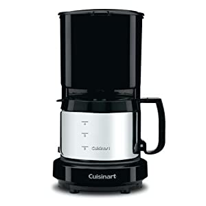 Conair 4-Cup Coffeemaker with Brushed Stainless Carafe WCM08B
