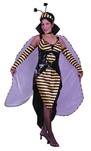 Funworld Womens Queen Bee Adults Animals Theme Party Fancy Halloween Costume
