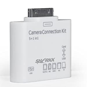 SHARKK® 5 in 1 Card Reader Connects Cameras, USB, & Memory Cards To iPad and iPad2 and The iPad 3rd Generation (ONLY WORKS WITH PICTURE FILES) by SHARKK