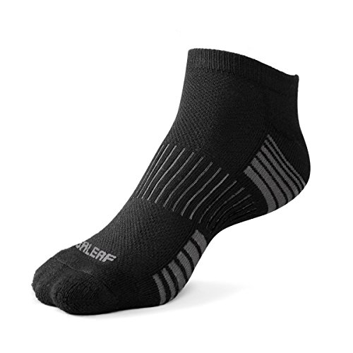 Baleaf Men's 6 Pack Running Athletic Cushion Low Cut Socks 2-2-2,L