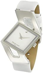 Fastrack Girls Analog White Dial Womens Watch - NE6035SL01