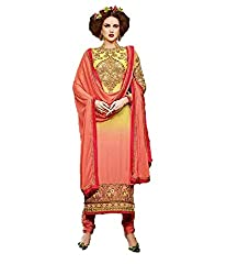 Desi Girl Fashion Store Women's Georgette Unstitched Dress Material (DGFS01_Multi-Coloured_Freesize)