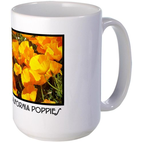 Cafepress California Poppies Gifts Large Mug - Standard