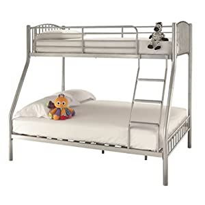 Triple sleeper bunk bed frame 4ft6 double on bottom for Bunk bed with double on bottom